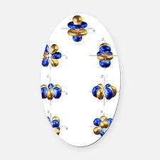 4f electron orbitals, general set Oval Car Magnet