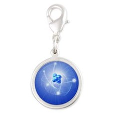 Atom, artwork Silver Round Charm