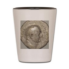 Ancient Coin Showing Vespasian Ceasar A Shot Glass