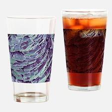 Antihistamine drug crystals, SEM Drinking Glass