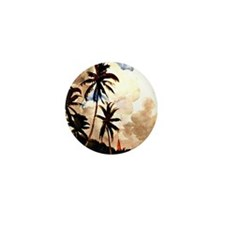 Winslow Homer - Palm Trees, Bahamas Mini Button