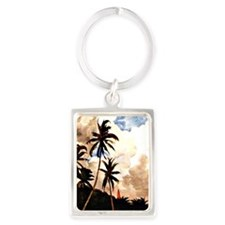 Winslow Homer - Palm Trees, Baha Portrait Keychain