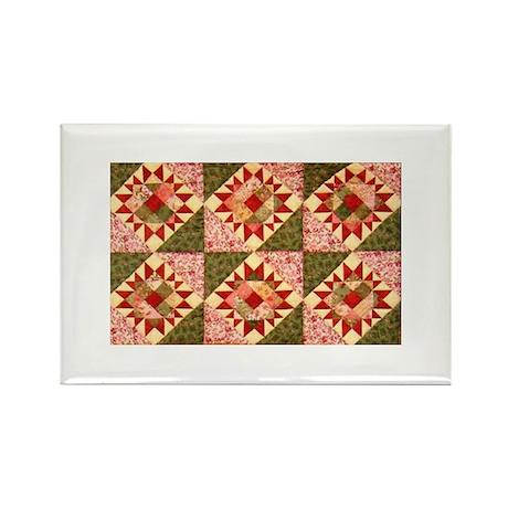 Susan's Quilt Rectangle Magnet