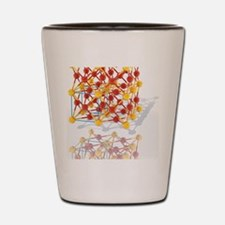 Gold-copper alloy crystal Shot Glass