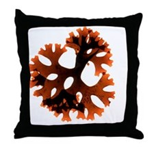 Carrageen red seaweed Throw Pillow