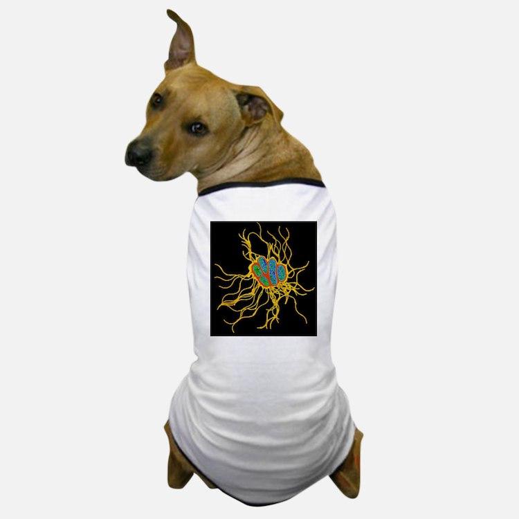 Coloured TEM of Salmonella bacteria Dog T-Shirt