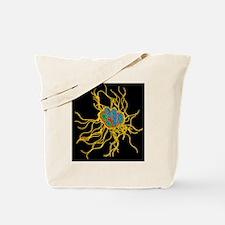 Coloured TEM of Salmonella bacteria Tote Bag