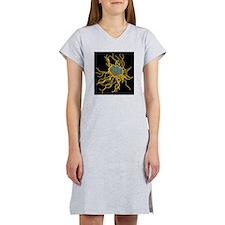 Coloured TEM of Salmonella bact Women's Nightshirt