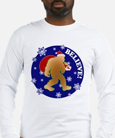 Sasquatch Santa Believe Long Sleeve T-Shirt