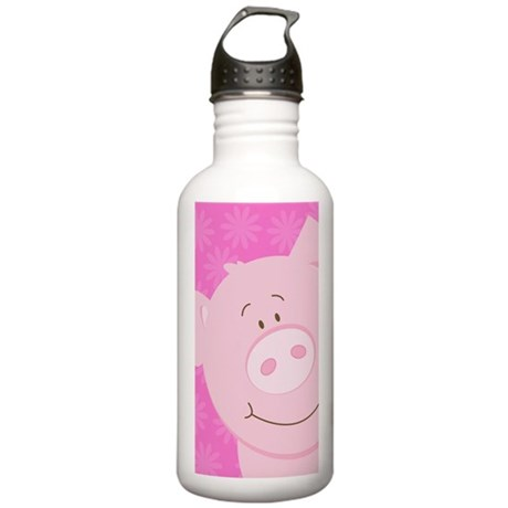 Pink Pig Stainless Water Bottle 1.0L