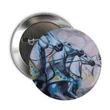 """Chariot Horse 2.25"""" Button"""