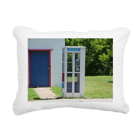 Phone Booth Rectangular Canvas Pillow