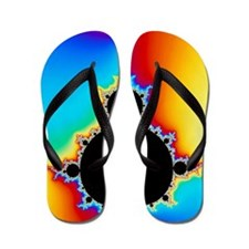 Mandelbrot fractal Flip Flops