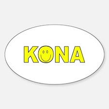 Kona, Hawaii Oval Decal