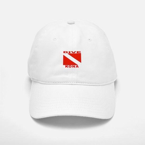 Dive Kona, Hawaii Baseball Baseball Cap