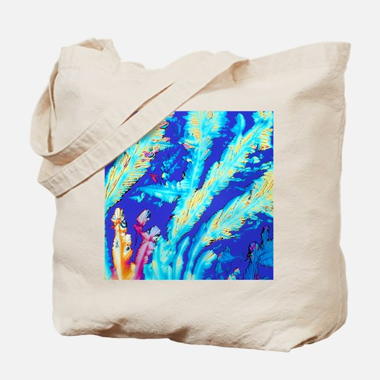 PLM of crystals of magnesium citrate drug Tote Bag