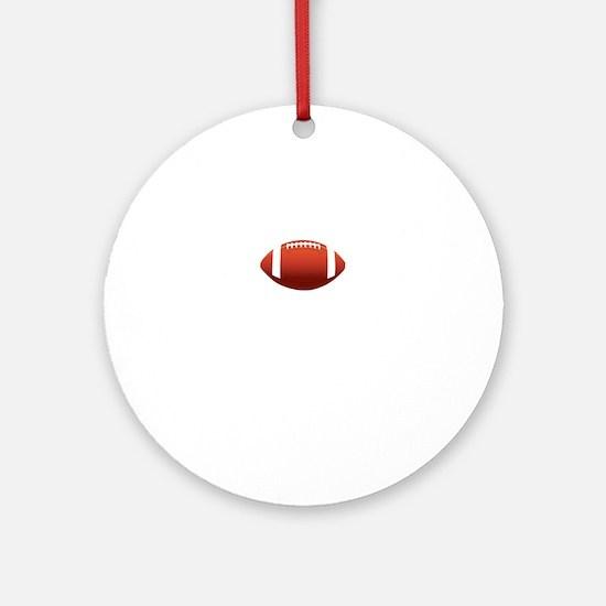 Team Troy Lifetime Member Football Round Ornament
