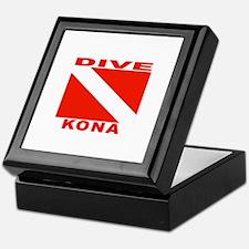 Dive Kona, Hawaii Keepsake Box