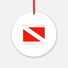 Dive Kona, Hawaii Ornament (Round)