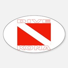 Dive Kona, Hawaii Oval Decal