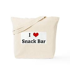I Love Snack Bar Tote Bag