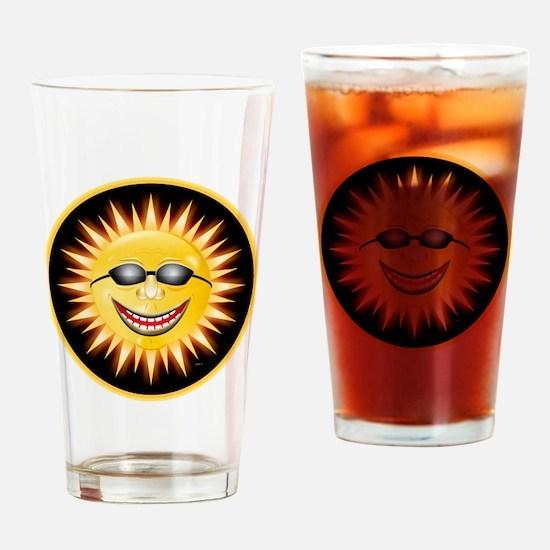 Smiling Sunshine Drinking Glass