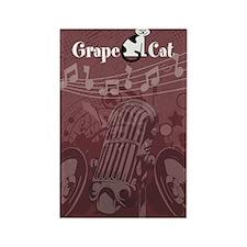 Grape Cat Kindle Rectangle Magnet
