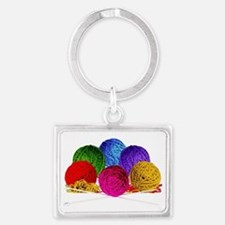 Great Balls of Bright Yarn! Landscape Keychain