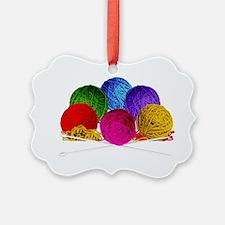 Great Balls of Bright Yarn! Ornament