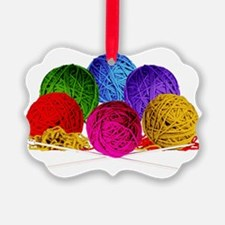Great Balls of Bright Yarn! Picture Ornament