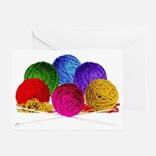 Great Balls of Bright Yarn! Greeting Card