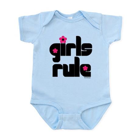 Girls Rule baby onesie