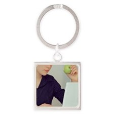 Snacking Square Keychain