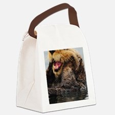 Alaskan Sea Otter Galaxy Canvas Lunch Bag