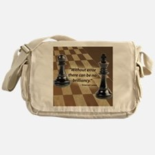 Chess Quote- Brilliance Messenger Bag