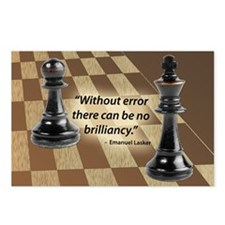Chess Quote- Brilliance Postcards (Package of 8)