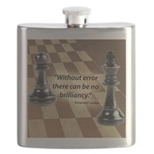 Chess Quote- Brilliance Flask