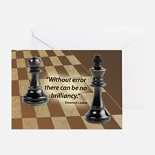 Chess Quote- Brilliance Greeting Card