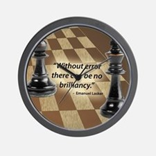 Chess Quote- Brilliance Wall Clock
