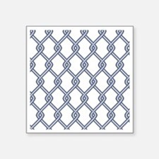 """Chain Link Fence Square Sticker 3"""" x 3"""""""