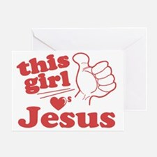 This Girl Loves Jesus Greeting Card