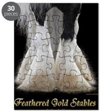Feathered Gold Stables Puzzle