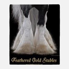 Feathered Gold Stables Throw Blanket