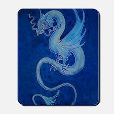 Mystical Blue Dragon Mousepad