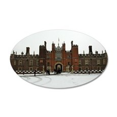Hampton Court Palace in the  35x21 Oval Wall Decal