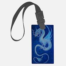 Mystical Blue Dragon Luggage Tag