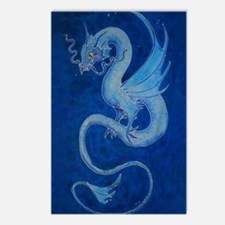 Mystical Blue Dragon Postcards (Package of 8)