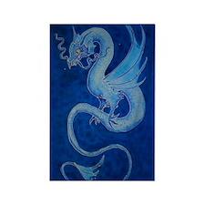 Mystical Blue Dragon Rectangle Magnet