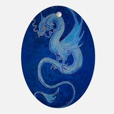 Mystical Blue Dragon Oval Ornament