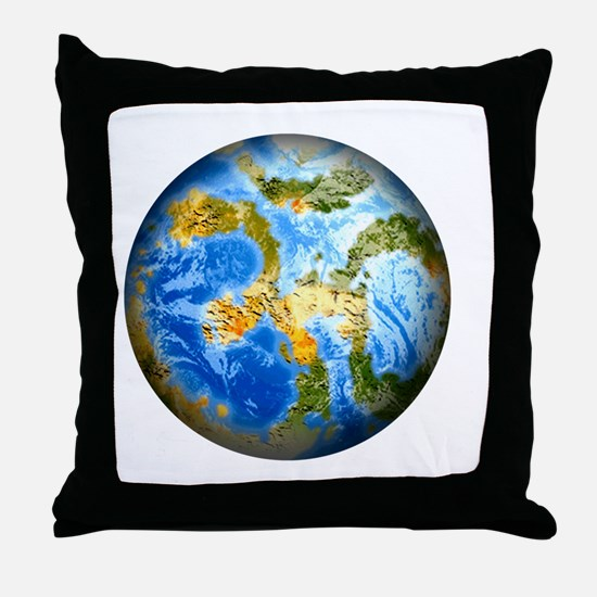 one people . one planet . one home Throw Pillow